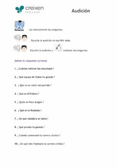 Interactive worksheet Comprensión auditiva