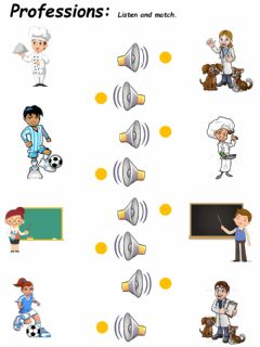 Interactive worksheet Professions 6