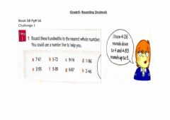 Ficha interactiva Rounding Hundredths To Whole Numbers
