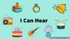 Interactive worksheet Things I Can Hear