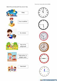 Interactive worksheet Record the time