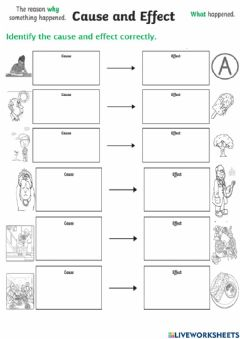 Interactive worksheet Cause and Effect