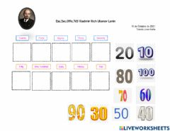 Interactive worksheet Number in English