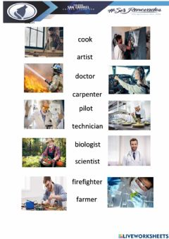 Ficha interactiva Professions and occupations