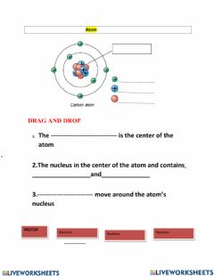 Interactive worksheet Structure of atom