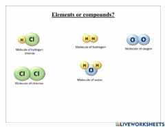 Interactive worksheet Elements & compounds