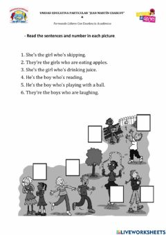 Interactive worksheet Who