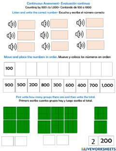 Interactive worksheet Counting by 100's to 1,000-Assessment