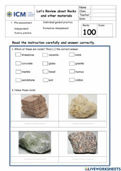 Interactive worksheet Lets review