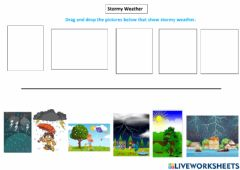 Interactive worksheet Stormy Weather