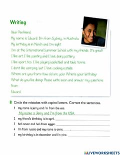 Interactive worksheet GRB07 - lesson 2