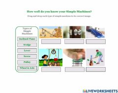 Interactive worksheet How well do you know your Simple Machines?