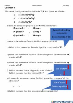 Interactive worksheet Question 4 Tutorial Chapter 6