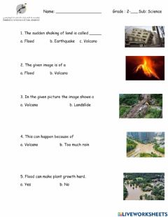 Interactive worksheet Sudden changes-Sun and moon