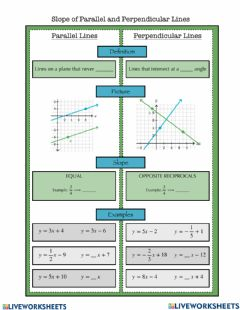 Interactive worksheet Parallel and Perpendicular Lines