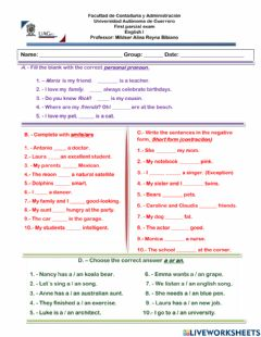 Interactive worksheet First parcial exam uagro