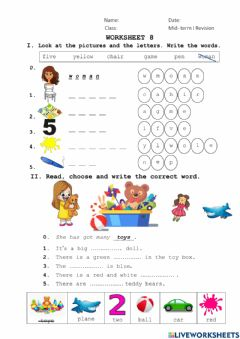 Interactive worksheet Mid-term I revision