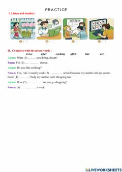 Interactive worksheet Unit 2: I always get up early. How about you?