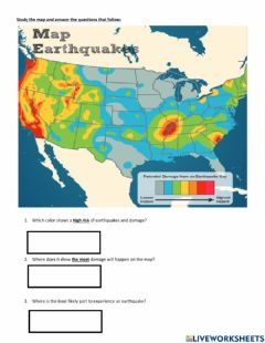Interactive worksheet Intro to earthquakes
