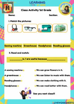 Interactive worksheet Inventions and Technology