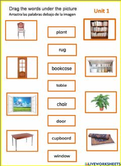Interactive worksheet Our house