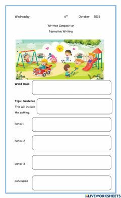 Interactive worksheet Day in the Park
