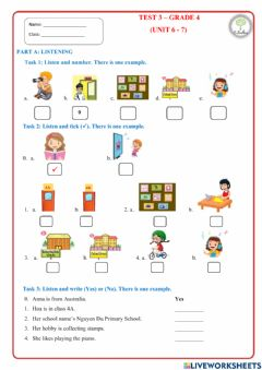 Interactive worksheet Review Unit 6+7