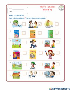 Interactive worksheet Review Unit 8+9