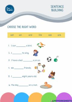 Interactive worksheet Choose The Right Word