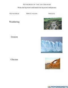 Interactive worksheet High:weathering and erosion