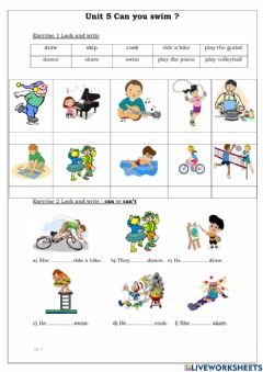 Ficha interactiva G4-U5-What can you do?