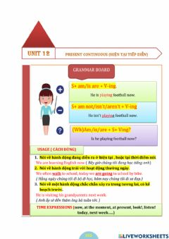 Interactive worksheet The present continuous (+)