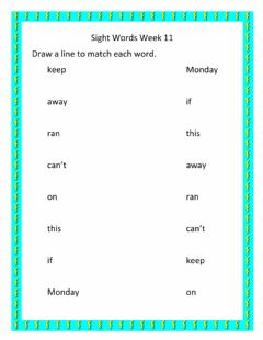 Interactive worksheet Sight Words Week 11