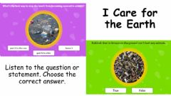 Interactive worksheet I care for the Earth