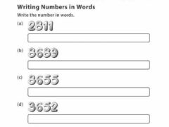 Interactive worksheet Write number in numerals and words