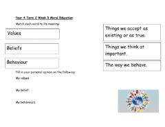 Interactive worksheet DIS Moral Education Term 2 Lesson 1
