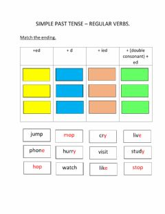 Interactive worksheet Simple Past Tense - Regular