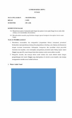 Interactive worksheet Fongsi komposis
