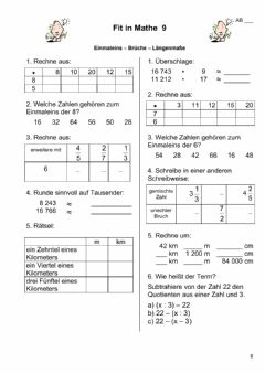 Interactive worksheet Fit in Mathe 5