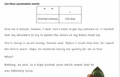 Interactive worksheet Dialogue- Inverted commas