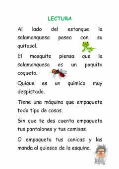 Interactive worksheet Lectura c