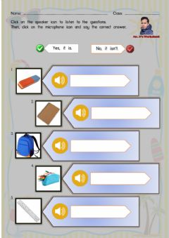 Ficha interactiva Things in the Classroom - Speaking