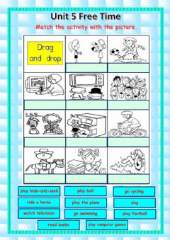 Interactive worksheet Unit 5 : Free Time Activities