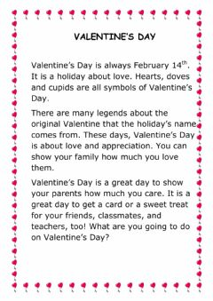 Interactive worksheet Valentine's Day