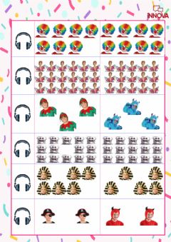 Interactive worksheet There are eight clowns