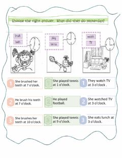 Interactive worksheet What did you do yesterday?