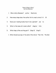 Interactive worksheet How to Read a Story