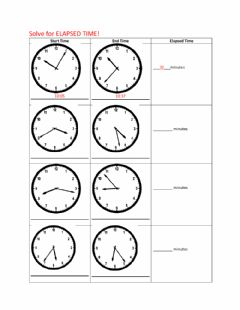 Interactive worksheet Elapsed Time
