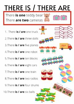 Interactive worksheet There is - There are toys