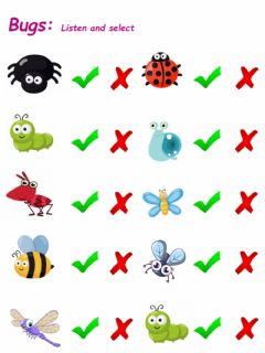 Interactive worksheet Bugs and Bugs